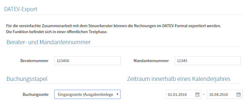 DATEV-Export